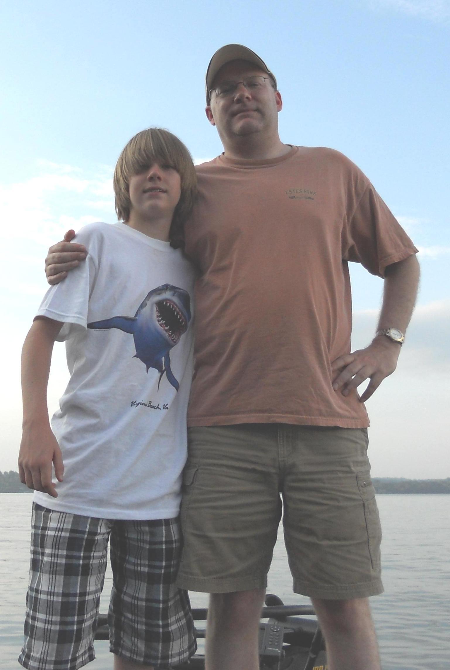 Douglas Lake - Nolan and Dad6-4-10